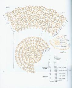 Caps, hats and panama: Knit crochet Bonnet Crochet, Crochet Beanie Hat, Crochet Motifs, Crochet Diagram, Crochet Chart, Crochet Lace, Knitted Hats, Crochet Patterns, Crochet Summer Hats