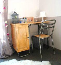 Bureau ecole et chaise metal