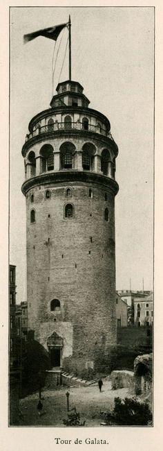 ✿ ❤ Bir Zamanlar İSTANBUL, Galata (1913).