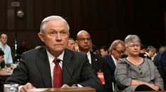 In testy exchanges with Democratic senators, the attorney general defended himself against suggestions of wrongdoing during the 2016 campaign but refused to discuss conversations with the president.