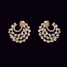 Looking for gold and diamond jewellery? Vummidi has the best collection of diamond rings, diamond earrings and gold jewellery, handcrafted to perfection. Real Gold Jewelry, Fancy Jewellery, Ear Jewelry, Diamond Jewellery, Bridal Earrings, Bridal Jewelry, Diamond Earrings Indian, Gold Earrings Designs, Beautiful Earrings