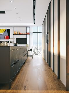If you love comic book style pop art then you are going to love the unusual home interior of this open plan floor penthouse in Tel Aviv. Accessorised in bright pops of colour, strong black accents, red area rugs and eye-catching art for the home. Interior Design Inspiration, Home Interior Design, Interior Decorating, Pop Art, Tel Aviv, Living Room Designs, Living Room Decor, Futuristisches Design, Design Ideas