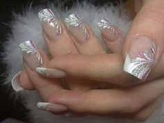 French Nails Nude Quadratisch Spitze Weis Dreieckig Lang Elegant Brautnagel Ring - - The Effective Pictures We Offer You About wedding nails videos A quality picture can tell you many thi Beautiful Nail Designs, Beautiful Nail Art, French Nails, French Manicures, Cute Nails, Pretty Nails, Elegant Bridal Nails, Elegant Makeup, Elegant Wedding