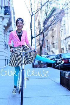 Biking NYC! With @kate spade new york