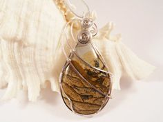 Owyhee Picture Jasper Wire Wrapped Pendant Jewelry by elainesgems, $24.00