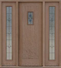 Oak croft entrance croft 2 sides universal panels door in centre