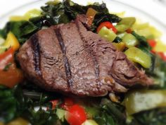 Steak over Kale and Peppers: 10/31/13