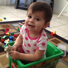 Haha I love babysitting my little princess, just as much as she loves that Lego box.