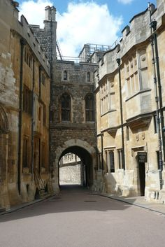 'The Norman Gate, Windsor Castle, Berkshire, England Built in 1357 as the principal entrance to the Upper Ward of the castle