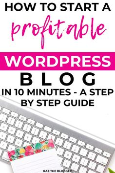 Want to learn how to start a profitable blog, that makes you money the right way. Avoid the mistakes a newbie makes with this easy step by step guide to setting up your WordPress blog. #wordpress #blog Online Jobs For Moms, Online Work From Home, Online Blog, Work From Home Jobs, Make Money From Home, Way To Make Money, Make Money Blogging, Make Money Online, Money Tips