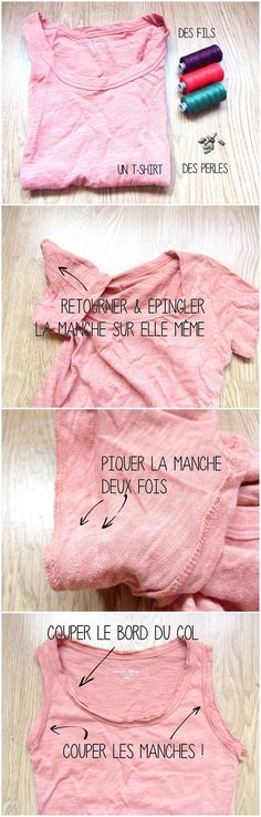 transformer un t-shirt basic en débardeur sympa