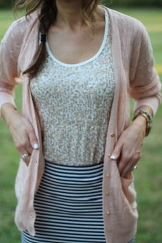 Light ink cable knit cardigan with gold buttons, J Crew.
