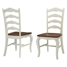 Home Styles The French Countryside Oak Dining Chairs - Set of 2 Rubbed White - 5518-802