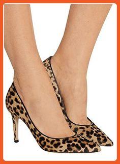 Kevin Fashion KLSDN180 Women's Slip-on Leopard Suede Club Party Evening Pumps Shoes 9 M US - Pumps for women (*Amazon Partner-Link)
