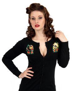 Liquor Brand Damen PANTHERS Cardigans.Rockabilly,Tattoo,Pin up,Biker Style