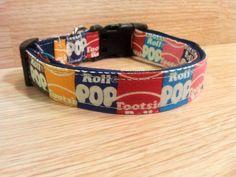 Retro Tootsie Pop Adjustable Dog Collar by aDOGableLife on Etsy, $15.00