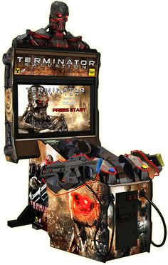Terminator Salvation Arcade Game Gun Game is refurbished with 1 year warranty and was Based on the Hit Movie Terminator! Terminator Salvation for your game room. Retro Arcade Games, Mini Arcade, Arcade Room, Classic Video Games, Videos, Arcade Machine, Pinball, Online Games, Videogames