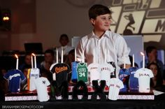 Enhance the theme of your bar or bat mitzvah with your candle lighting display. Use candy, sports, shoes, sand art, or your childs name as the display. Bar Mitzvah Themes, Bar Mitzvah Party, Bat Mitzvah, Candle Lighting Ceremony, Kind Bars, Unique Candles, Party Centerpieces, Candle Making, Display