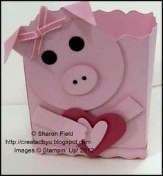 Inspired by Beth Baird's creative die cut piggy box... changed it up quite a bit due to faulty memory LOL
