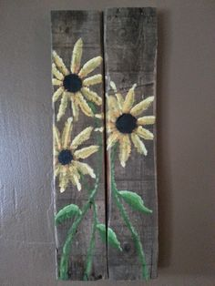 JM - For Kelli. Sunflowers painted on reclaimed wood by Okie Suds and Signs.