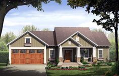 Search for bungalow home plans today at COOL House Plans. Our reliable and affordable collection offers the best-selling Bungalow home designs in the USA. Bungalow Floor Plans, Craftsman Style House Plans, Cottage House Plans, Country House Plans, Small House Plans, Cottage Homes, Craftsman Cottage, Craftsman Exterior, Craftsman Ranch