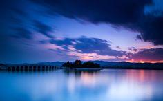 Blue lake by Haiwei Hu on 500px