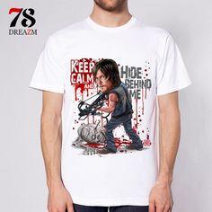 5606a39460c7 Summer T-shirt The Walking Dead no hope men t shirt rise up top Tees male