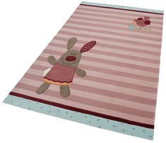 Kinder-Teppich »3 Happy Friends Stripes«, handgearbeitet