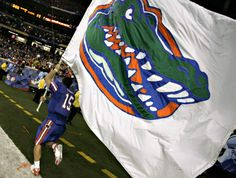 Tebow flying the flag for the Gators. Love his heart, n passion