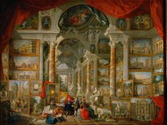 Giovanni Paolo Panini,  Gallery with views of modern Rome. 1759, oil on canvas. Musée du Louvre.