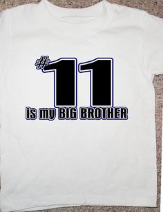 Little brother shirt sports fan by OodlesDecals on Etsy, $10.00--(For G--#37 is my big sister!!!