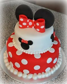 I made this Minnie Mouse cake for a sweet little girl's 2nd birthday party. I just love Minnie!
