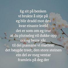 Tar utfordringen fra @seidetpanynorsk om å skrive et dikt på nynorsk! Hva synes dere? Utfordringen varer ut juli så det er fortsatt noen dager dere andre kan være med. Tagg diktet med #egsadetpanynorsk Guys