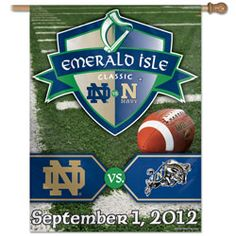Notre Dame Fighting Irish vs. Navy Emerald Isle Classic Vertical Flag: 27x37 Banner #Irish #ND #FightingIrish http://www.fansedge.com/Notre-Dame-Fighting-Irish-vs-Navy-Emerald-Isle-Classic-Vertical-Flag-27x37-Banner-_442585078_PD.html?social=pinterest_pfid23-57682