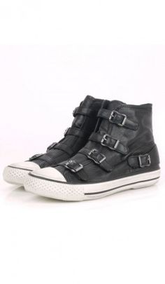 Buckle Trainers - Black - Plümo Ltd, also comes in olive. Black Converse, Converse All Star, Converse Shoes, Wearing Black, Chuck Taylors, Trainers, Shoe Boots, Footwear, Mens Fashion