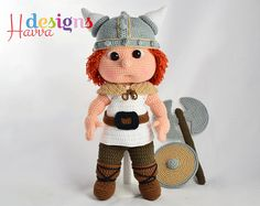 PATTERN Tommy With Viking Costume by HavvaDesignAmigurumi on Etsy
