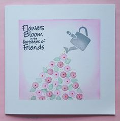 Cardio Cards, Thank You Messages, Art Impressions, Spring Wreaths, Card Io, Flower Cards, Blossoms, Handmade Cards, Cardmaking