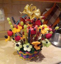 Fruit bouquet Easter basket