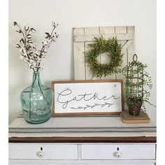 So excited to start decorating for fall!! I just got this adorable gather sign…