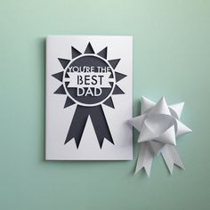 A die cut papercut fathers day card with a cut out geometric rosette design featuring text reading YOURE THE BEST DAD The card has a dark Cool Fathers Day Gifts, Great Father's Day Gifts, Fathers Day Cards, Daddy Day, Free Printable Cards, Scrapbook Cards, Scrapbooking, Father's Day Diy, You're Awesome