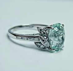 the ring-- vintage aquamarine Wedding Rings Vintage, Vintage Rings, Vintage Jewelry, Gold Wedding, Wedding Band, Jewelry Rings, Jewelry Accessories, Jewelry Design, Jewlery
