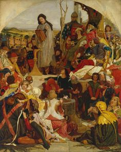 Chaucer at the Court of Edward III - Ford Madox Brown (1847)