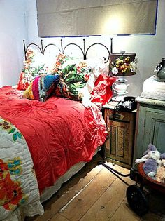 anthropologie bedroom love the wagonwould be great for books