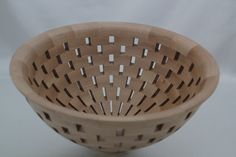 "Open Segmented Birch Bowl of 145 pieces of Birch. The open spaces add a great deal of interest with the angles of each piece of wood. It is 10.5""dia x 5.5""H. A decorative piece of art for the table or mantel. Signed, numbered, & dated."