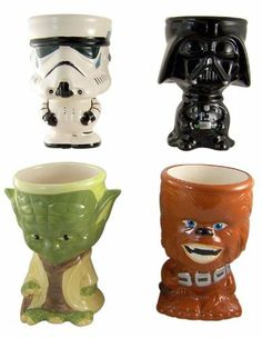 Star wars mugs special chewy, yoda,darth, and stormy