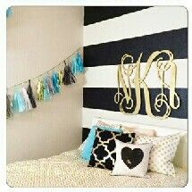 Gold, black, white, and, turquoise bedroom