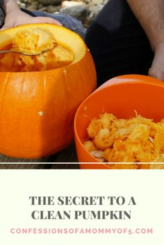 My secret to a clean pumpkin - Confessions of A Mommy of 5