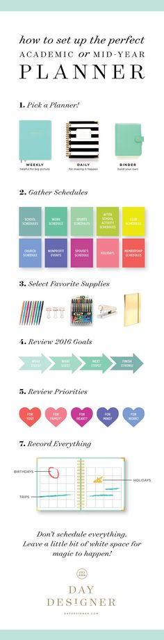 Setting up the perfect academic or mid-year #dayplanner! Brought to you by DayDesigner.com