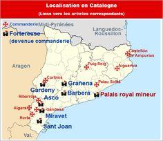 Commanderies templières en Catalogne, Espagne