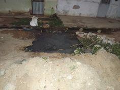 Moradores do Bairro Espírito Santo Velho em Tabira - PE denunciam esgoto a céu aberto   S1 Noticias